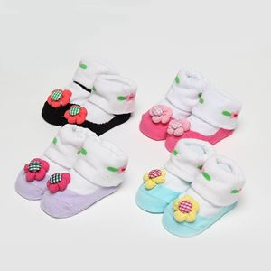 Picture of Pretty 4 Colour Per Pack Baby Infant Girl Sock