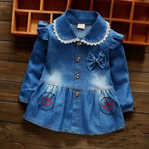 Picture of Denim Long Sleeve with Ribbon Girl Blouse