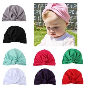 Picture of Assorted Color Stylish Pleated Turban for Kids Girls