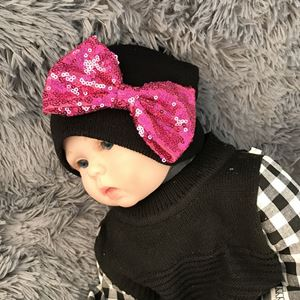 Picture of Adorable Hat with Sequins Ribbon for Baby Girl Toddler