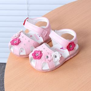 Picture of White Flower Luminous Lightning Baby Sandal
