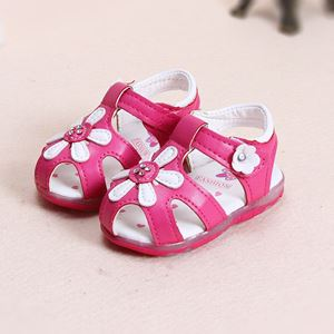 Picture of Rose Pink Flower Luminous Lightning Baby Sandal