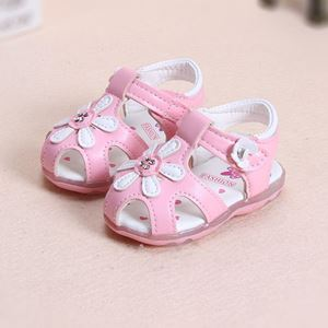 Picture of Pink Flower Luminous Lightning Baby Sandal
