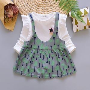 Picture of Flower Tree Girl Shirt and Dress Two-Piece Set