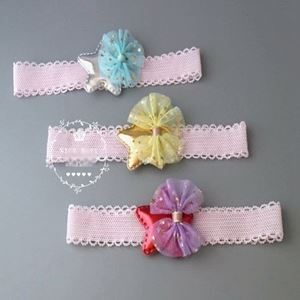 Picture of Fashion Ribbon and Floral Baby Girl Toddler Headband
