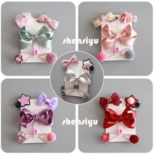 Picture of 4 pcs Hair Clip Gift Set for Kids Baby Girls