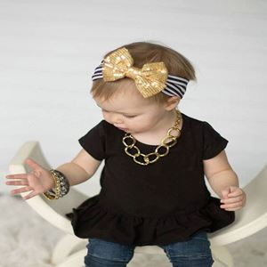 Picture of Adorable Ribbon Sequins Elastic Baby Girl Toddler Headband