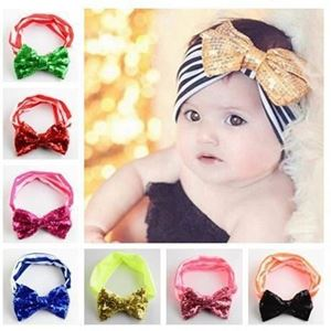 Picture of Adorable Ribbon Sequins Elastic Headband for Baby Girl Toddler