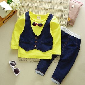 Picture of Fashionable Vest Shirt and Pants 2-Piece Set
