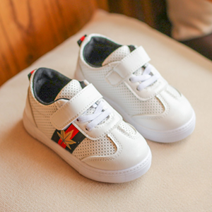 Picture of White with Black Leisure Shoes Sneakers (Big)