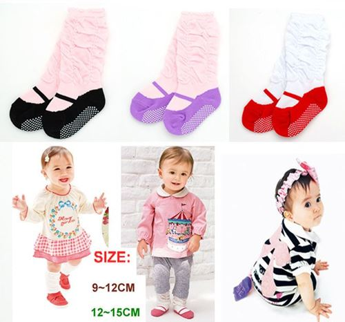 Picture of Pretty 3 Colour Per Pack Baby Infant Girl Sock