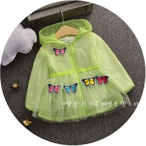 Picture of Green Butterfly with Ribbon Girl Rain Coat