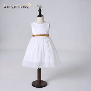 Picture of White Shining Sequin Bow Dress with V-back