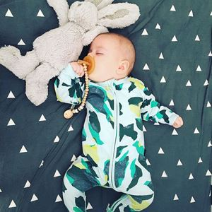 Picture of Stylist Adorable Patterned Baby Zip Jump Suit