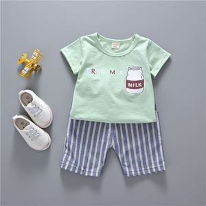 Picture of Unique Cartoon Print Top and Pants Clothing Set