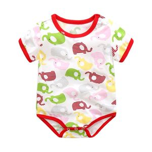 Picture of Adorable Elephant Unisex Short Sleeve Baby Romper