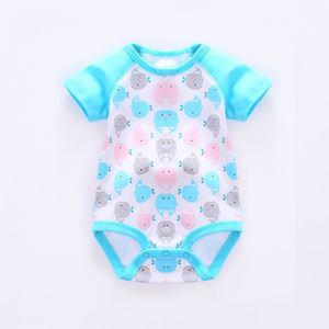 Picture of Adorable Whale Unisex Short Sleeve Baby Romper