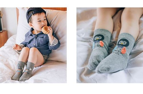 Picture of 4-pack Cute Baby Animal Design Sock (Size M)