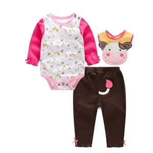 Picture of Adorable Little Cow Moo Moo Unisex Baby Romper 3IN1