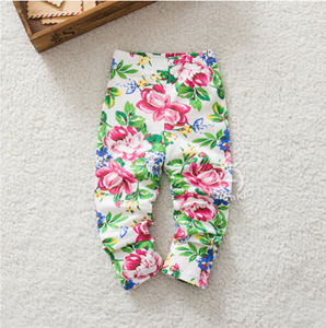 Picture of Vibrant Floral Print Leggings for Baby Girls