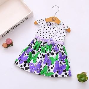 Picture of Polka Dots Flower Butterfly Dress for Girls