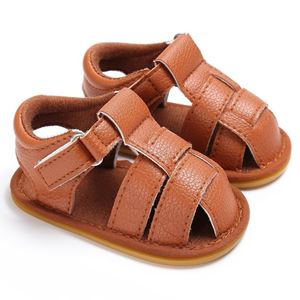 Picture of Brown  Baby Toddler Infant Leather Sandal