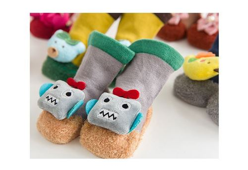 Picture of Assorted 3D Cartoon Design Socks for Babies (Size M)