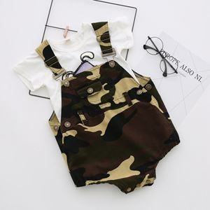 Picture of Stylish Unisex Army Green Overall Romper
