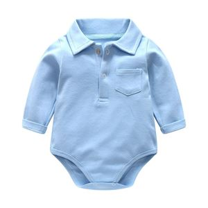 Picture of Comfy Longsleeve Romper with Collar for Babies