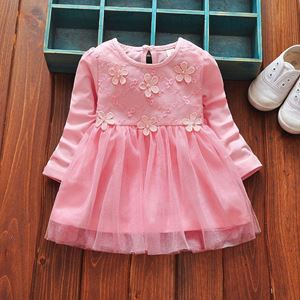 Picture of Lovely Flower Pattern Long Sleeve Dress for Baby Girl