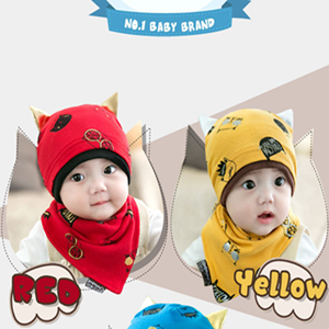 Picture of Adorable Kitten Baby Knitted Hat With Scarf for Baby Toddler