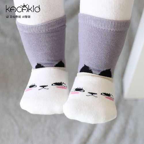 Picture of Cute Baby Sock Anti Slip Socks With Low Cut Socks 2in1(S)
