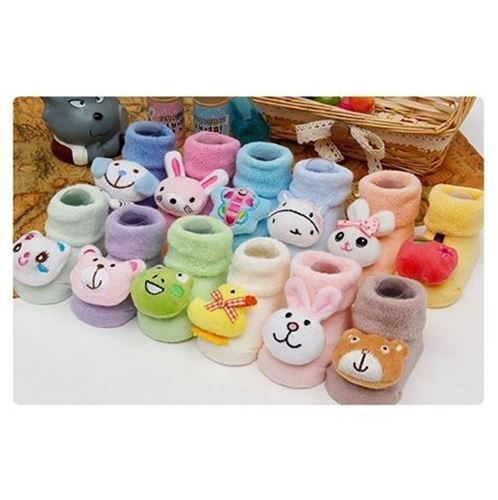 Picture of Adorable Assorted Design 3D Baby Infant Sock