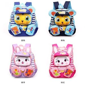 Picture of Adorable Cartoon with Stripe Backpack for Kids Child