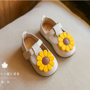 Picture of Beige Baby Toddler Girls Cute Flower Shoe