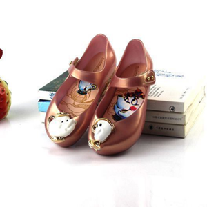 Picture of Light Brown Girls Teapot Breathable Jelly Shoes
