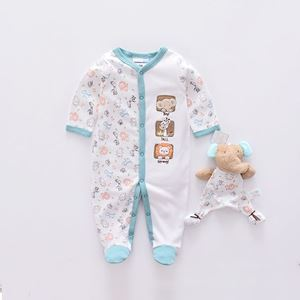 Picture of Cute Elephant Print Long-sleeve Jumpsuit with Doll