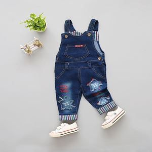 Picture of Baby Overall Embroider Design Star Denim Blue