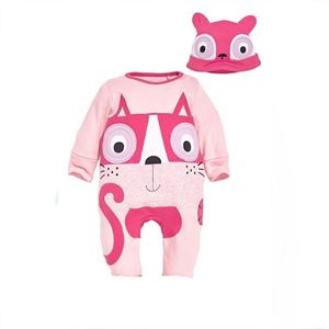 Picture of Cute Animal Kitten Romper Baby with Hat