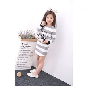 Picture of Korea Stylist Toddler Girls Casual Long-Sleeves Dress