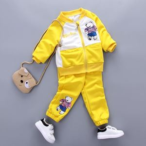 Picture of Yellow Boy Bear Long Sleeve Sweater and Pants Clothing Set