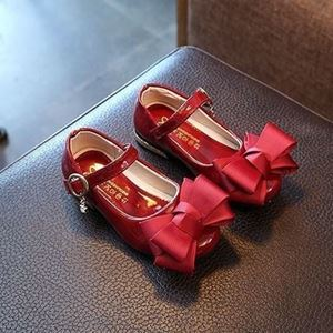 Picture of Red Adorable Ribbon Sandal Shoes for Girls
