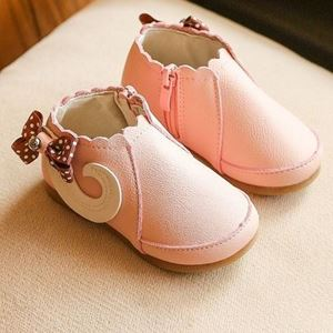 Picture of Comfy Peach Baby Toddler Infant Girl Shoes with Zip