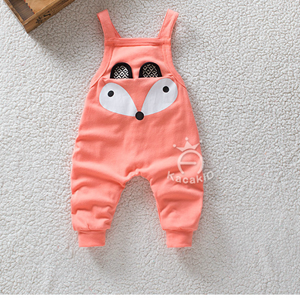 Picture of Peach Cute Little Fox Overall for Unisex Baby