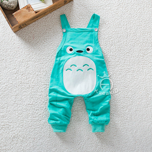Picture of Green Cute Totoro Overall for Unisex Baby