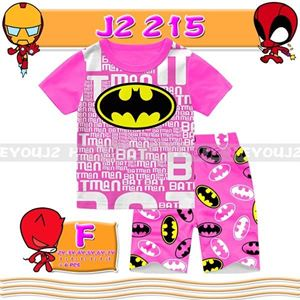 Picture of 2-Piece Batman Printed Short Sleeve Casual Wear Clothing Set (2-7y)