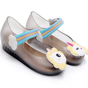 Picture of Unicorn Transparent Black Girl Jelly Shoes For Kids