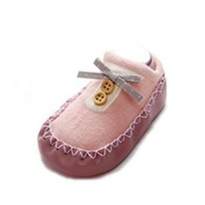 Picture of Design Pink Button Ribbon Anti-skid Baby Socks