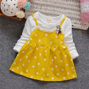 Picture of Design Dot Sleeved Dress for Toddler Girls