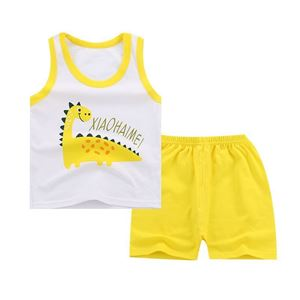 Picture of Two-Pieces Dinosaur Sleeveless Garment and Shorts Pants Unisex Clothing Set